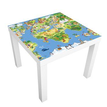 Carta adesiva per mobili IKEA - Lack Tavolino Great And Funny Worldmap