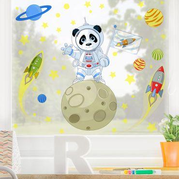 Adesivi da finestra - Panda  Astronauta