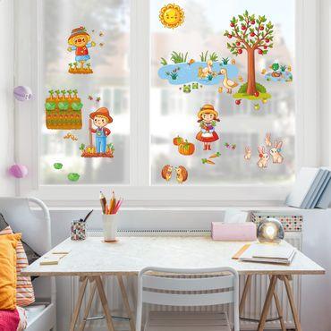 Adesivi da finestra Farm - Garden Set