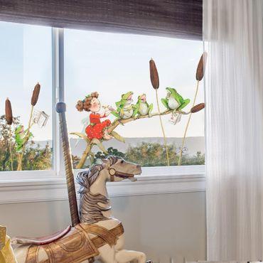 Adesivi da finestra - The Strawberry Fairy - Concert With Frogs