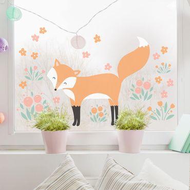 Adesivi da finestra - Forest Friends With Fox