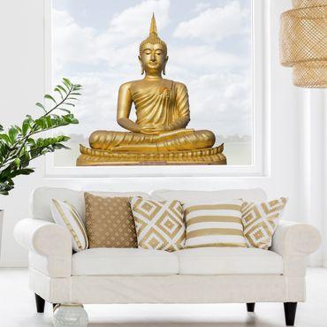 Adesivi da finestra Buddha d'oro