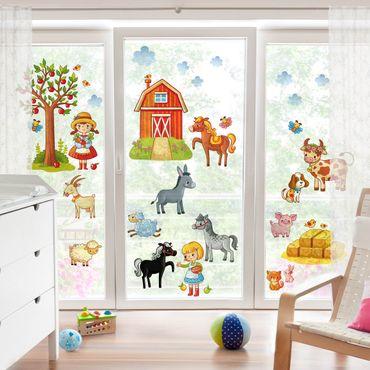 Adesivi da finestra Small Farm-Set
