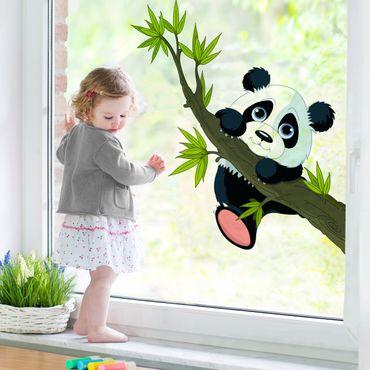 Adesivi da finestra Climbing Panda