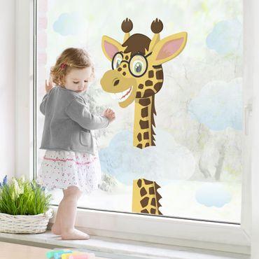 Adesivi da finestra giraffa divertente