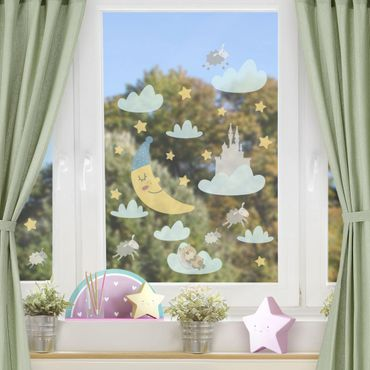 Adesivi da finestra - Moon And Stars