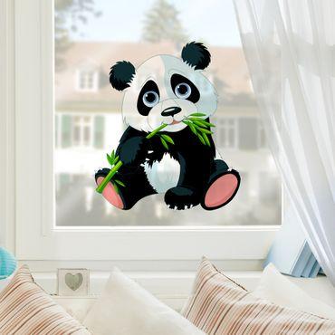 Adesivi da finestra Nibbling Panda