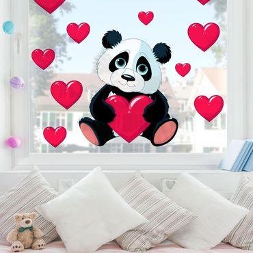 Adesivi da finestra - Panda Con Cuore