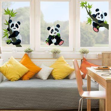 Adesivi da finestra Panda bear set