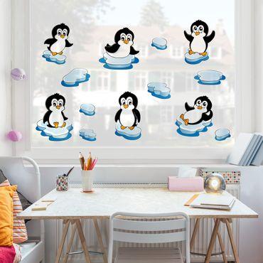 Adesivi da finestra Pinguini set