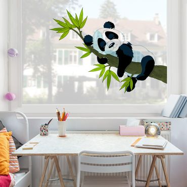 Adesivi da finestra Sleeping Panda