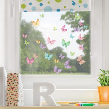 Adesivi da finestra - Set Farfalle Luccicanti