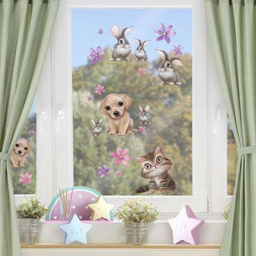 Adesivi da finestra - Set Di Animaletti