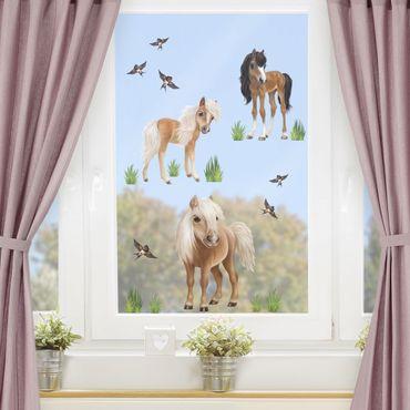 Adesivi da finestra - Set Pony