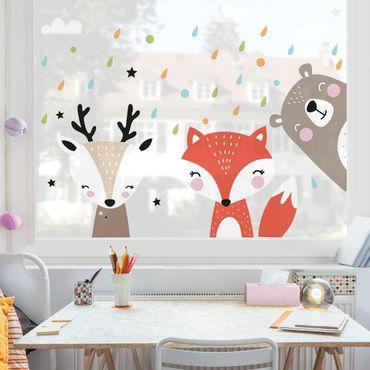 Adesivi da finestra - Sweet Forest Animals