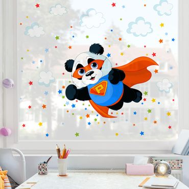 Adesivi da finestra - Super Panda
