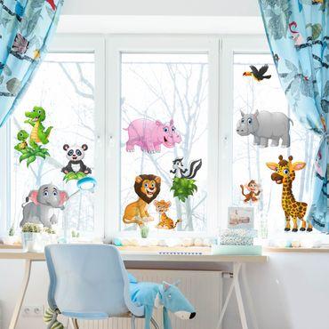 Adesivi da finestra Jungle Animals