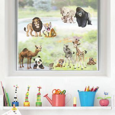 Adesivi da finestra - Fauna Africa