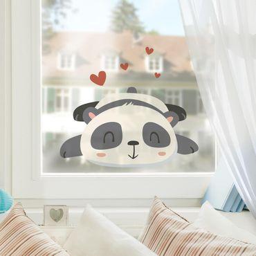 Adesivi da finestra - Amorous Panda