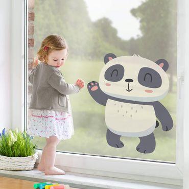 Adesivi da finestra - Waving Santander Panda