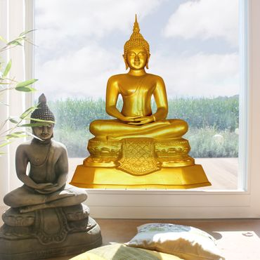 Adesivi da finestra Zen Buddha d'oro