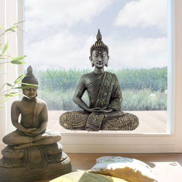 Adesivi da finestra Zen Buddha di Pietra