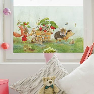 Decorazione per finestre - The Strawberry Fairy - With Hedgehog