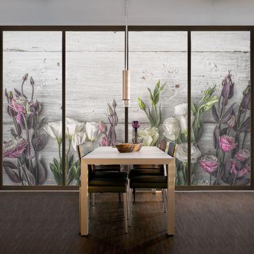 Decorazione per finestre Tulip Pink Shabby wood optic
