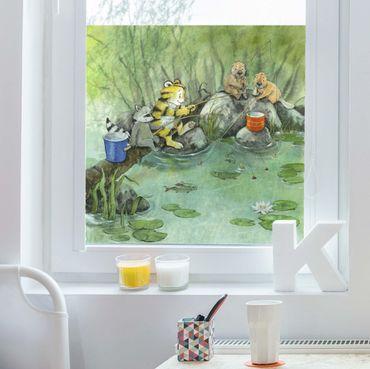 Decorazione per finestre - Il piccolo tigrotto - When Fishing