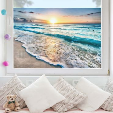 Decorazione per finestre - Sunset At The Beach