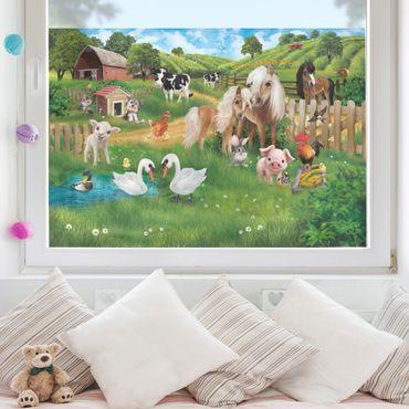 Decorazione per finestre per bambini - Animal Club International - Animali nella fattoria