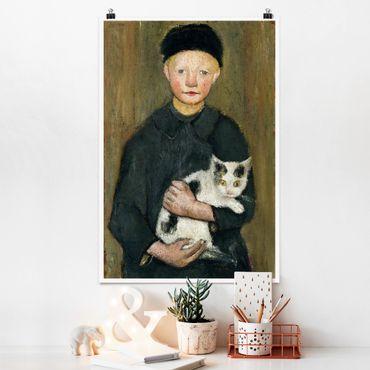 Poster - Paula Modersohn-Becker - Ragazzo con il gatto - Verticale 3:2