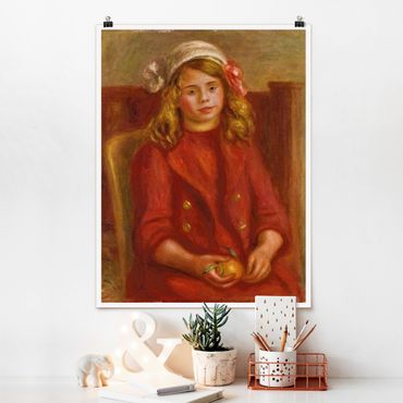 Poster - Auguste Renoir - Ragazza con l'arancio - Verticale 4:3