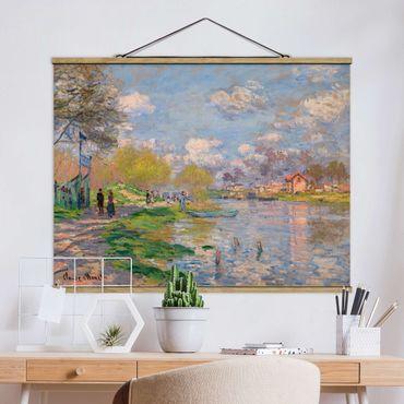 Foto su tessuto da parete con bastone - Claude Monet - Il suo - Orizzontale 3:4