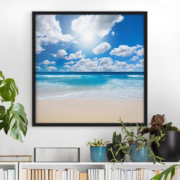 Poster con cornice - Touch Of Paradise - Quadrato 1:1