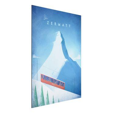 Stampa su alluminio - Poster di viaggio - Zermatt - Verticale 4:3