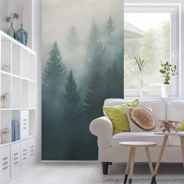 Tenda a pannello - Coniferous Forest In Fog - 250x120cm
