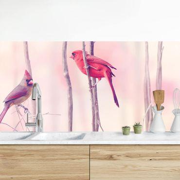 Rivestimento cucina - Uccelli Sui Rami