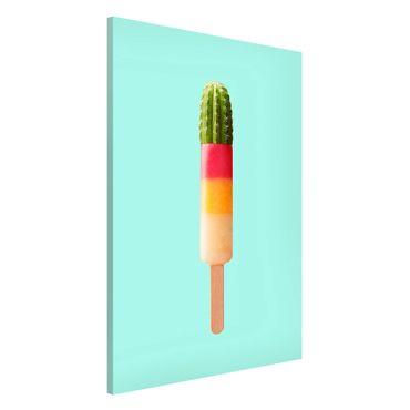 Lavagna magnetica - Ghiaccio Con Cactus - Formato verticale 2:3