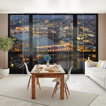 Tende scorrevoli set - Window View Of London'S Skyline With Bridges
