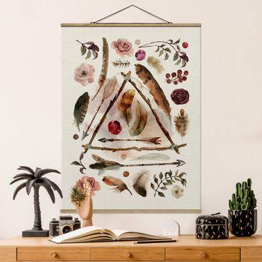 Foto su tessuto da parete con bastone - Reperti - Acquerelli - Verticale 4:3