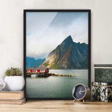 Poster con cornice - Casa di pescatori in Svezia