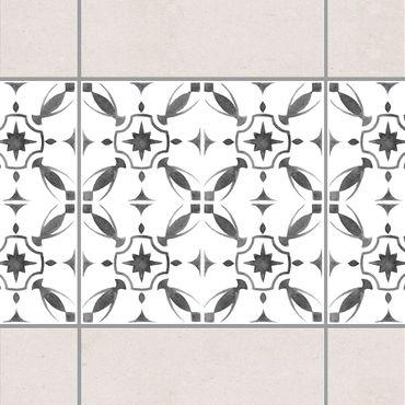 Adesivo per piastrelle - Gray White Pattern Series No.1