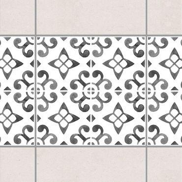 Adesivo per piastrelle - Gray White Pattern Series No.5
