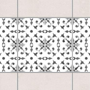 Adesivo per piastrelle - Gray White Pattern Series No.6