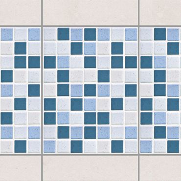 Adesivo per piastrelle - Mosaic Tiles Blue Gray 15x20 cm