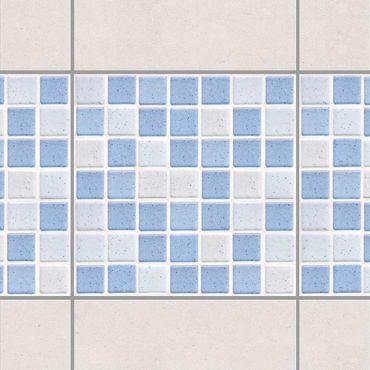 Adesivo per piastrelle - Mosaic Tiles Light Blue 15x15 cm