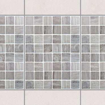 Adesivo per piastrelle - Mosaic Tiles Marble Look 15x20 cm