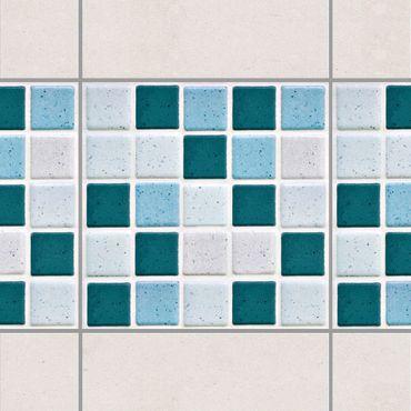 Adesivo per piastrelle - Mosaic Tiles Turquoise Blue 10x10 cm