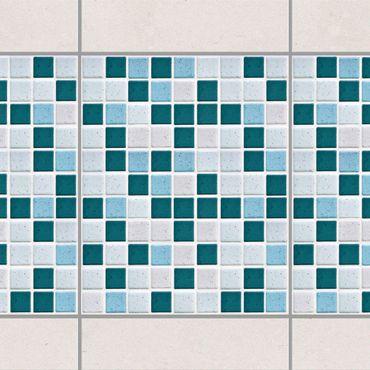 Adesivo per piastrelle - Mosaic Tiles Turquoise Blue 20x25 cm